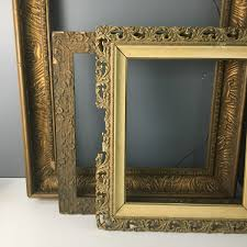 three gesso frames the two on the left are antique old the one on the right is more recent