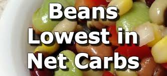 Carbs Beans Chart Beans And Legumes Low In Net Carbs