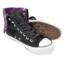 converse knee high boots. converse knee high design boots (black/purple) - 7 uk