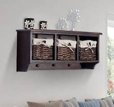 Coat Rack With Storage Baskets 100 Cubby Wall Shelf Coat Rack Storage Entryway Bathroom w100 Baskets 85