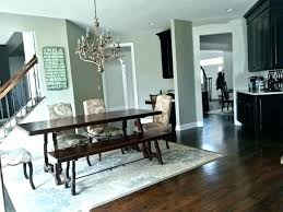 area rug under dining table oval round best can you put an size chart kitchen ta round table rug dining