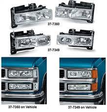 custom headlight sets 1990 98 chevy pickup trucks 1990 98 gmc 1990 chevy truck wiring diagram at 91 Gmc Headlight Wiring