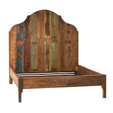 Distressed Painted Wood Bed Frame Eastern King