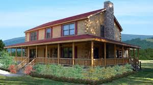 wraparound porch log cabin with floor