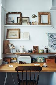 office desk shelf. good reads chic boutiquers at home wood desk and decorative shelving sfgirlbybay office shelf