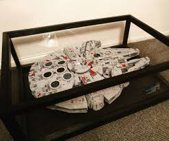 handsome 75192 ucs millennium falcon display ideas stands supports ideas of convertable falcon table images