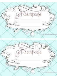 Custom Gift Certificate Templates Free Certificate Templates Free Gift Certificate Printable Templates