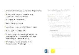 Letter Of Understanding Template Word Memorandum Of Agreement Sample Exclusive 7 Understanding