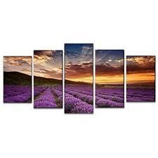 image is loading framed lavender nature landscape canvas art prints picture  on lavender sunset wall art with framed lavender nature landscape canvas art prints picture wall