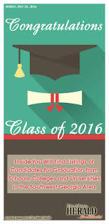 Graduation 2016 by Albany Herald issuu