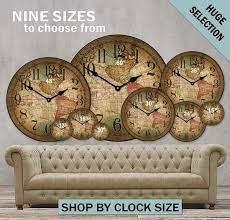customizable large wall clocks