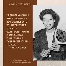 Black History Month - Althea Gibson ~ The Researcher's Gateway