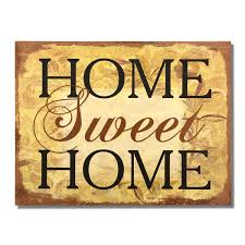 adeco decorative wood wall hanging sign plaque home sweet home brown gold