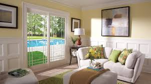 interior sliding glass french doors. Doors, Charming French Sliding Glass Doors Interior With Sofa And Painting: