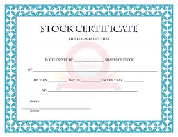 Template For Stock Certificate 41 Free Stock Certificate Templates Word Pdf Free