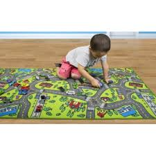 has the kids city life play mat on for only 15 14 this rug includes a hospital school airport and more it features a skid proof back and