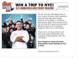 Next Great Baker New York City Adventure Sweepstakes