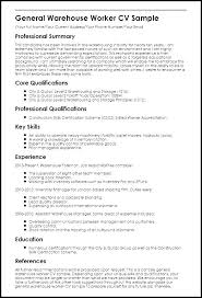 Warehouse Resume Templates New Warehouse Resume Samples Orgullolgbt