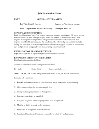 Sample Resume For Warehouse Forklift Operator Gallery Creawizard Com