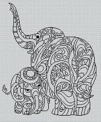 Blackwork Cross Stitch Charts Blackwork Elephant 6 Cross Stitch Chart 4 00 Picclick Uk