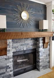 airstone fireplace makeover faux stone designs living room decoration