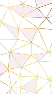 white and pink wallpaper iphone. Pink Gold White Geometric Mosaic Iphone Phone Wallpaper Background Lock Screen For And