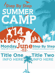 Summer Camp Pamplets Step By Step Summer Camp Poster Graphic Design Pinterest