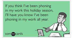 Season Work Lazy Funny Holiday Ecard Christmas
