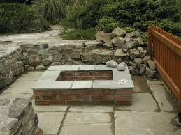 stone fire pit square design square stone fire pit ideas to light your flame garden