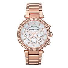 michael kors watches beaverbrooks the jewellers michael kors rose gold tone chronograph ladies watch