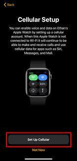 apple watch set up cellular service