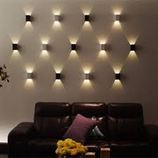 up down 3w led wall sconce surface mounted light fixture modern lamp aluminum effect wall light