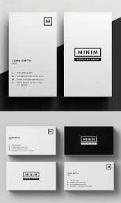 Simple Business Card Template Word Simple And Clean Business Card Templates 23 Print Design