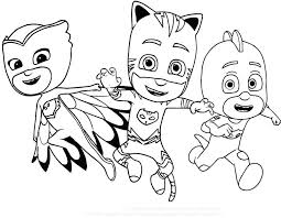 Pj Masks Coloring Pages Combined With Mask Coloring Pages P J Masks