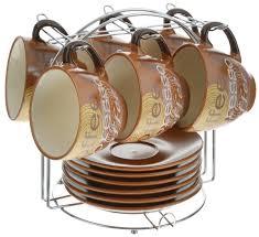 """<b>Набор чайный</b> """"Loraine"""", на <b>подставке</b>, 13 предметов. 23537"""