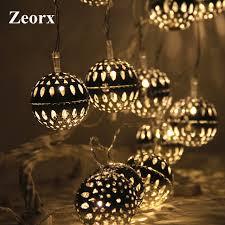 zeorx globe led ball string lights light patio lights lighting for home garden lawn party