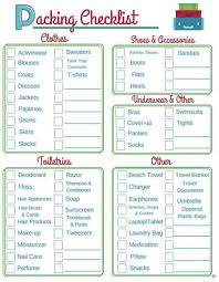 Vacation Checklist Vacation Packing Checklist Printable Cheapthriftyliving Com