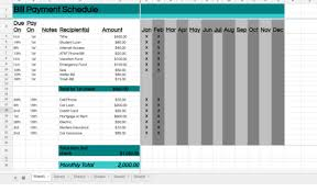 Free Printable Bill Payment Schedule How To Manage Bills With A Bill Payment Schedule
