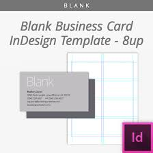 Blank Indesign Business Cards Template 8 Up Bootstrapcreative Shop