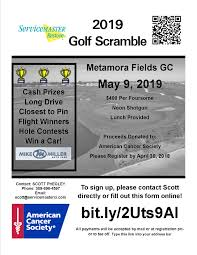 2019 Golf Outing Flyer Servicemaster Of Central Illinois