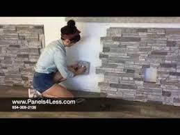 to install fake stone wall panels diy