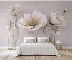 <b>Beibehang Custom Wallpaper 3D</b> Nordic Elegant Flower Marble ...
