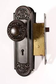 Antique door knob Locks Antique Door Hardware Set With Doorknobs Plates Mortise Lock Yale Towne C 1910 Preservation Station Nashville Tn Preservation Station Antique Door Hardware Set With Doorknobs Plates Mortise Lock