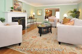 Arcadia living room real estate staging Moving Mountains Design