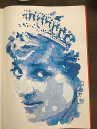 another querkles from the book querkles by thomas pavitte querkle my version of lady di in blue