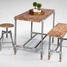 industrial adjule height coffee table industrial stool galvanised wood