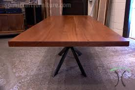 sapele mahogany slab conference table for los angeles california office from spiritcraft furniture of east