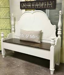 Bench Out Of Headboard Repurposed Headboard Made Into Bench Woodworking 101 Pinterest