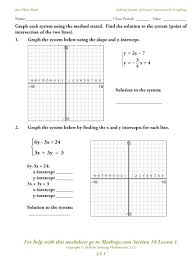 solving linear equations math is fun standard form equation unit seven systems of page word problems