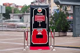 Vending Machine Advertising Adorable Amstel Beer Vending Machine Rewards Customer For Doing Nothing